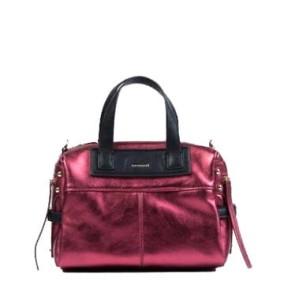 7339ff185d757 Monnari Torebka damska kuferek listonoszka BAG A170 burgund bordowa błysk  glamour