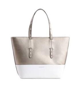 2d6aa6aa14c8e Monnari Torebka elegancka klasyczna BAG 7310 złota biała na wiosnę lato