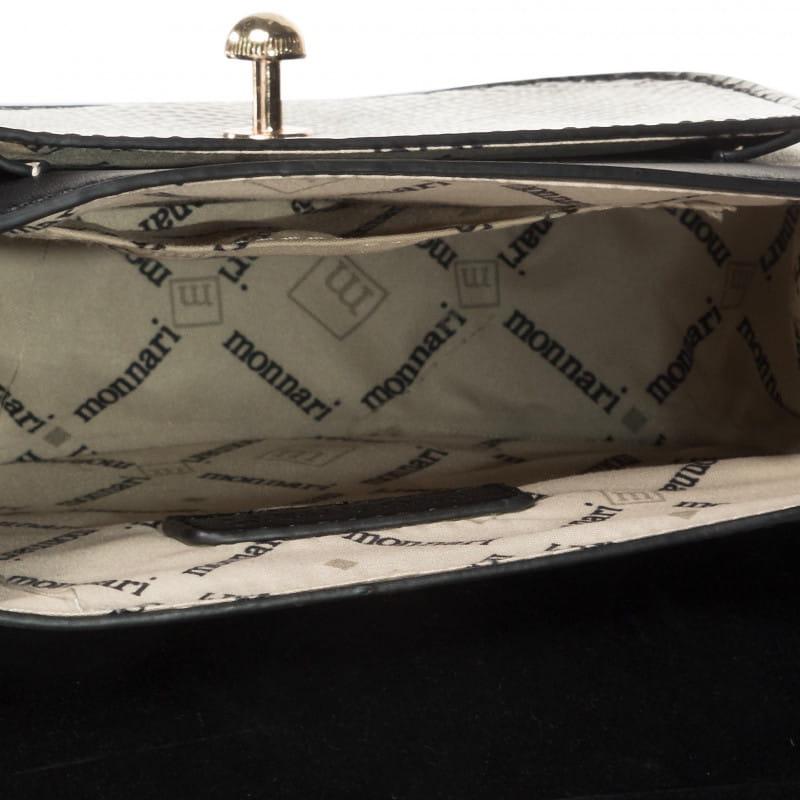 Monnari torebka wizytowa listonoszka BAG 2710 czarna lakierowana
