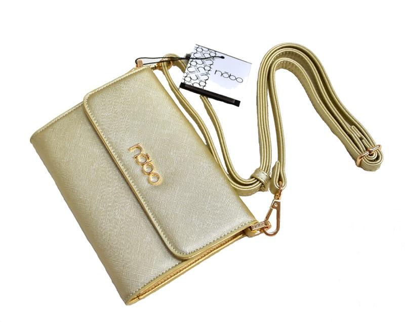 d5b4b5c32ad3c Torebki damskie NOBO mała torebka wizytowa listonoszka C3605 złota ...