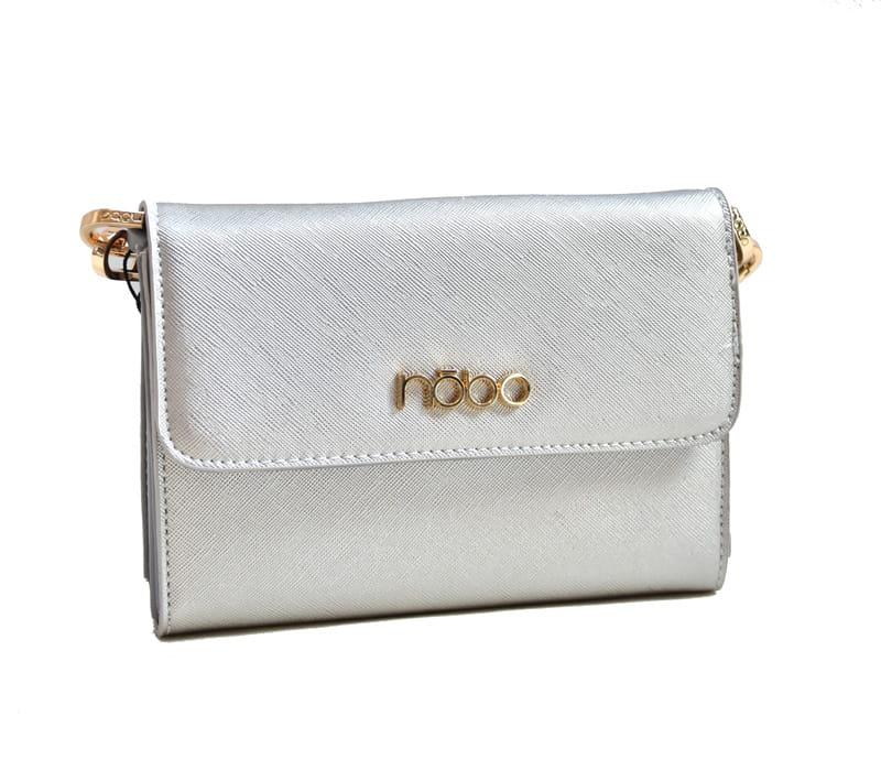 92d6c5223d3db Torebki damskie NOBO mała torebka wizytowa listonoszka C3605 srebrna ...