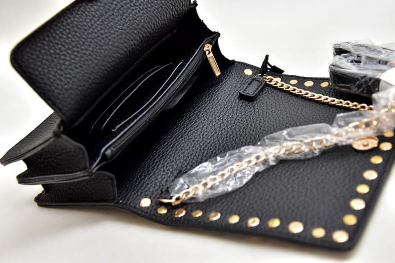 6569fe8f988f7 Torebki damskie Magic Bags Torebka mała listonoszka z ćwiekami M633 ...