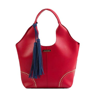 594760496b8c2 Monnari Torebka damska 2w1 shopper worek BAG 6230 czerwona na wiosnę lato