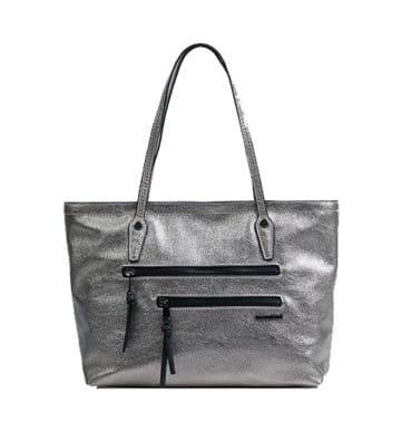 a209a679aea8c Monnari Torebka damska miejska elegancka BAG 8860 shopper złota srebrna  glamour