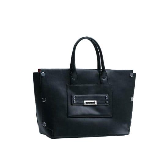 Monnari Torebka miejska duża 2w1 shopper elegancka BAG 8450 czarna