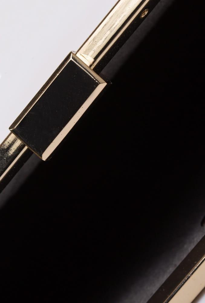 Monnari Torebka damska wizytowa kopertówka BAG 7220 ciemno złota