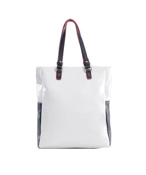 Monnari Torebka damska shopper BAG 6740 biała granatowa na wiosnę lato